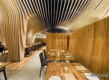 木质流畅的韵律:波士顿Banq餐厅前卫设计