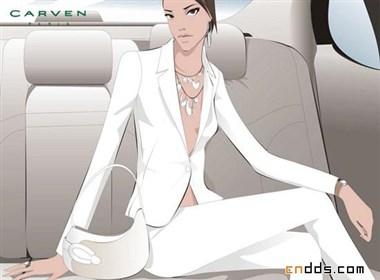 韩国Carven品牌包商业插画