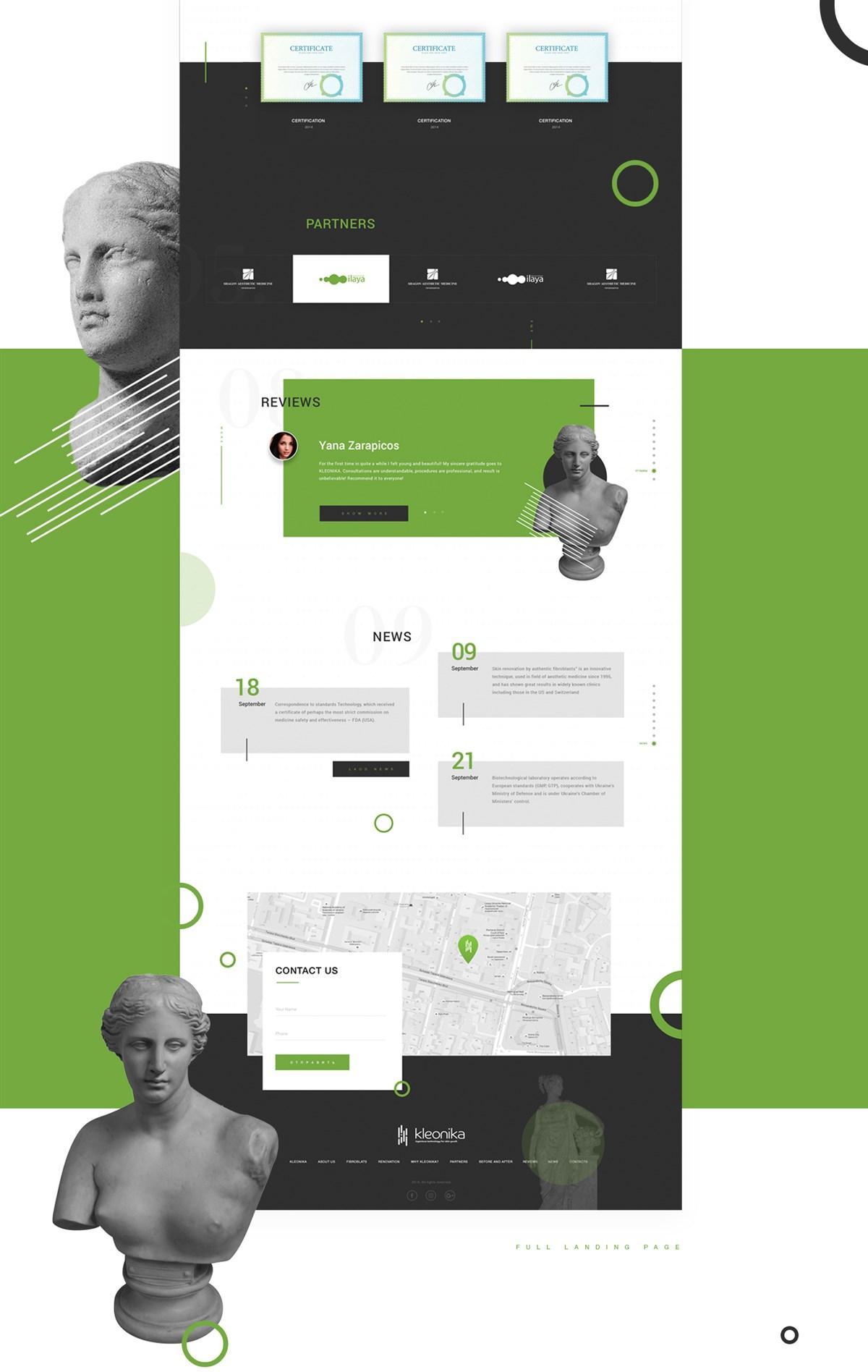 KLEONIKA网页设计