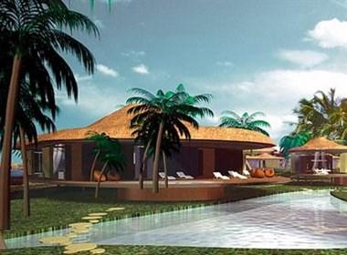 马尔代夫岛屿-海上建筑