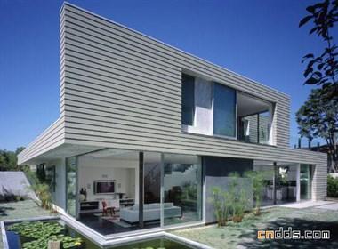 洛杉矶可持续收获材料的别墅设计