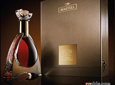 經典MARTELL酒高貴包裝設計