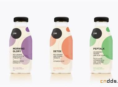 健康飲品瓶貼設計欣賞