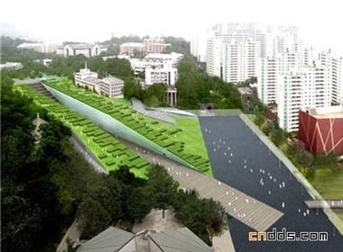 韩国首尔-梨花女子大学校园建筑设计