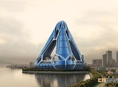 创意三角形建筑