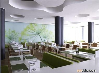 餐厅里的室内装饰设计