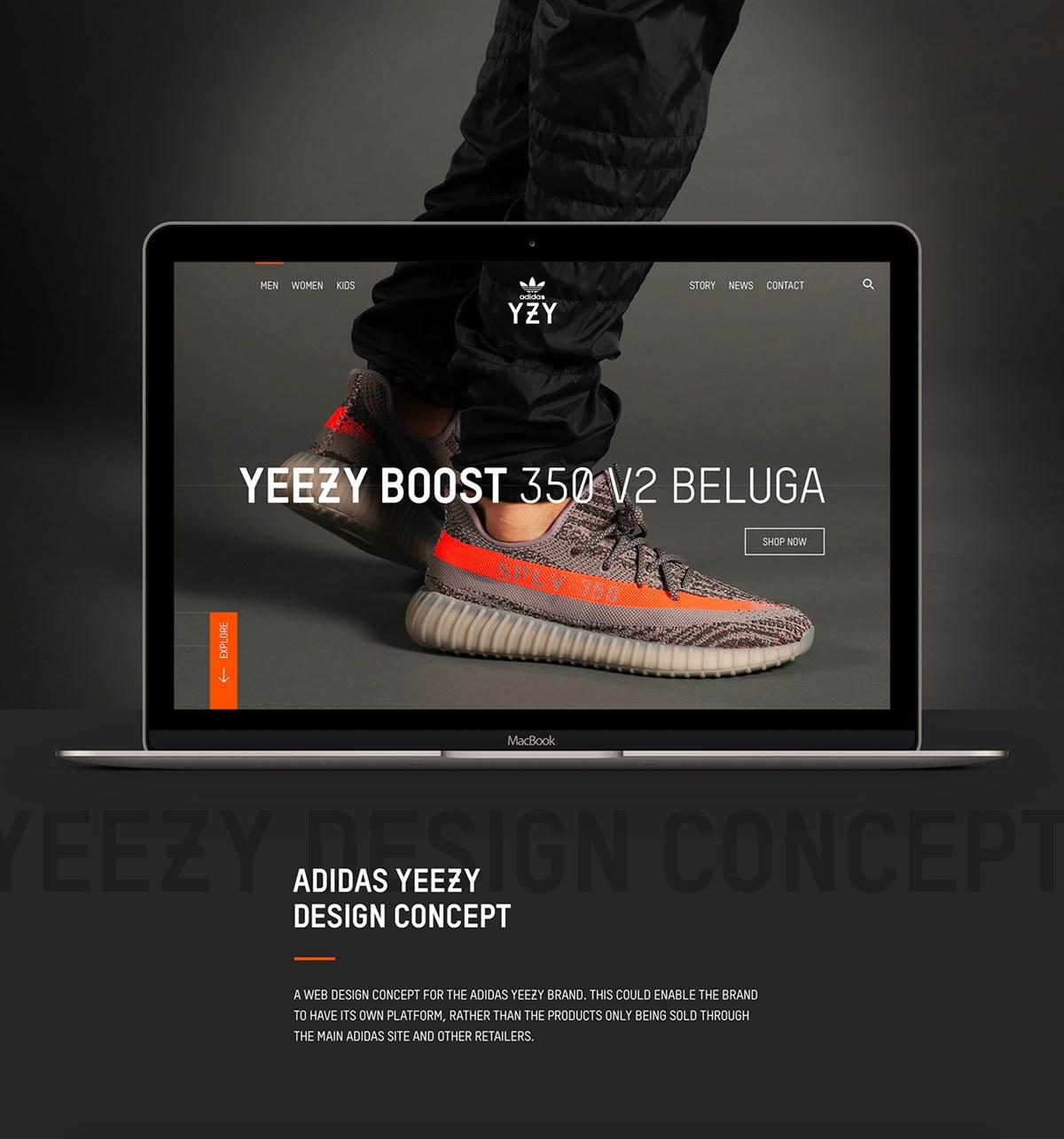 阿迪达斯官网页面设计