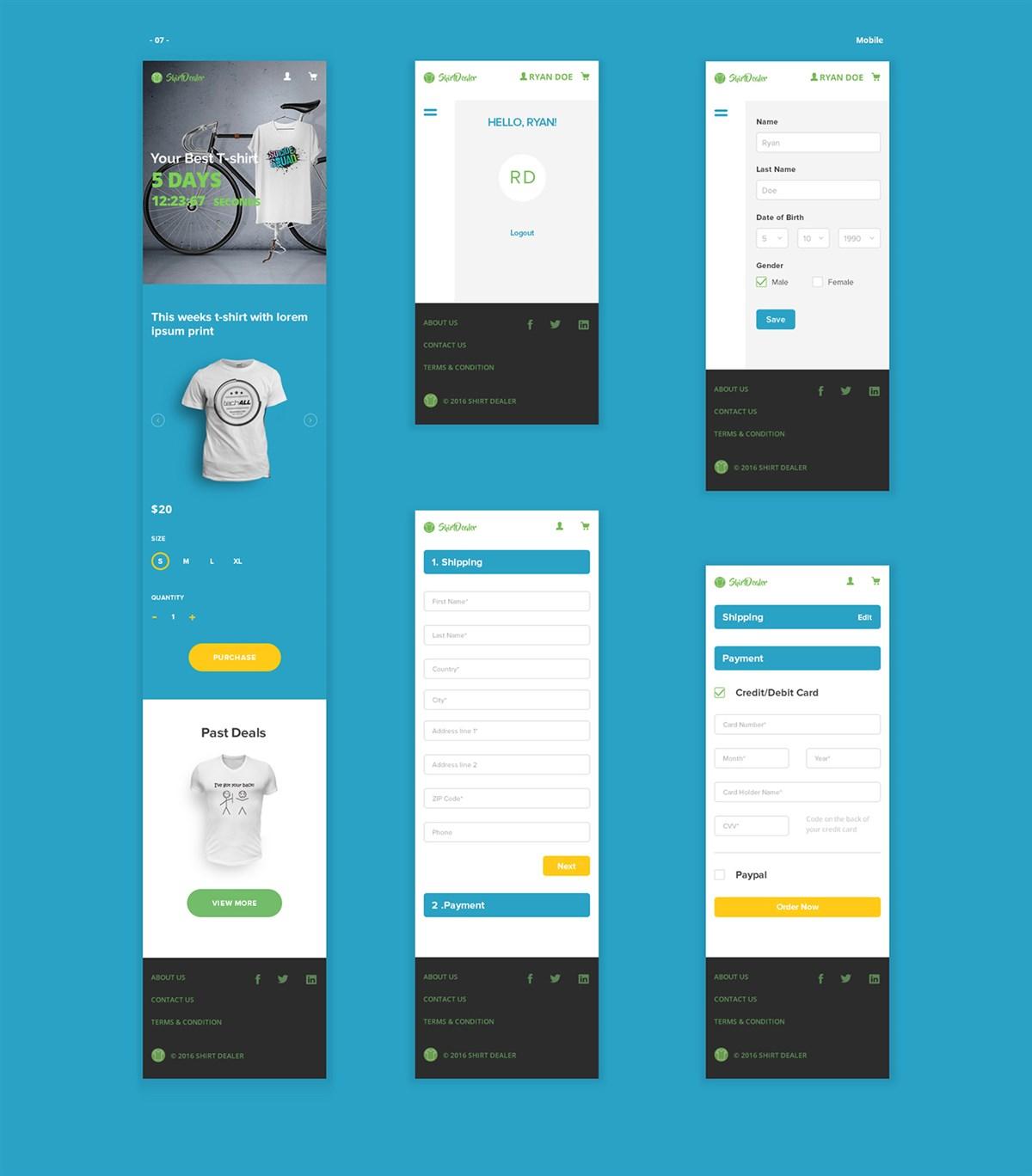 ShirtDealer网页界面设计欣赏
