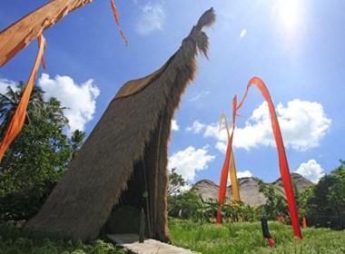 巴厘岛的竹屋
