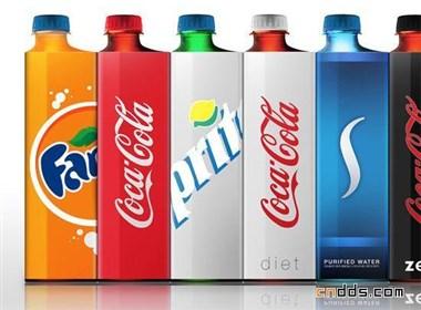 方形可口可乐包装设计