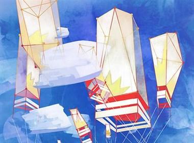 法国自由插画师Emmanuel Malin抽象作品