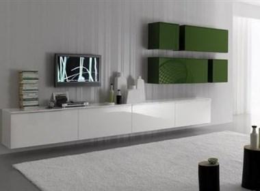 时尚的绿白色客厅设计欣赏