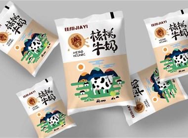 佳怡-牛奶包装设计logo设计