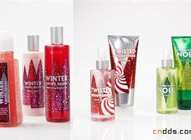 冬季沐浴护肤产品节日包装设计