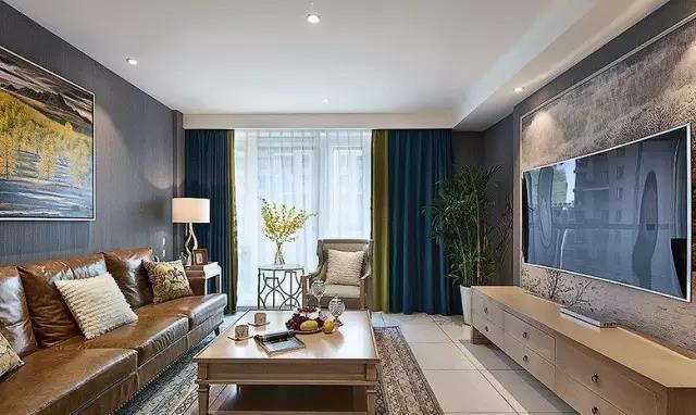 两居室装修案例 简约美式 是否有一见钟情的感觉