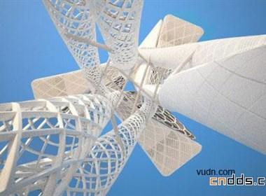 迪拜Za abeel公园观测塔
