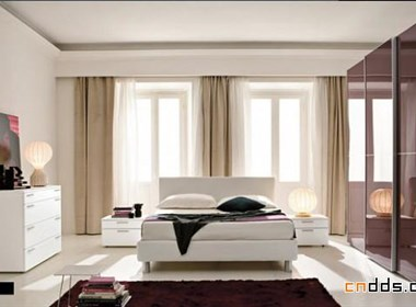 现代风格的卧室
