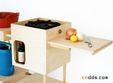 Nina Tolstrup的移动简易厨房设计