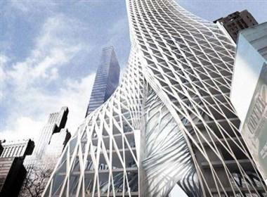 螺旋缠绕的摩天大楼