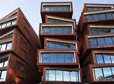 外观新颖独特的新西兰Ironbank大厦
