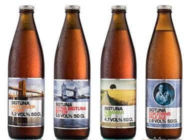 瑞典Sigtuna啤酒瓶贴设计