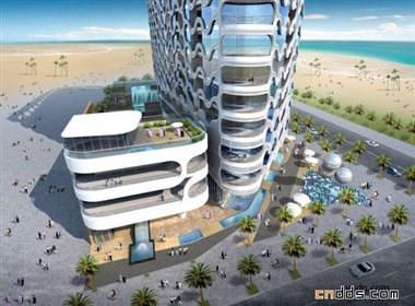 迪拜点式高层建筑设计方案