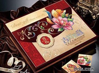五款金红调子的月饼包装设计欣赏