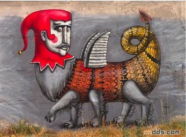 超现实街头艺术创作—Kislow