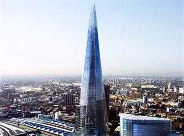 """伦敦""""碎片大厦""""欣赏"""