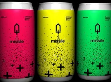 能量饮料Missile时尚易拉罐包装欣赏