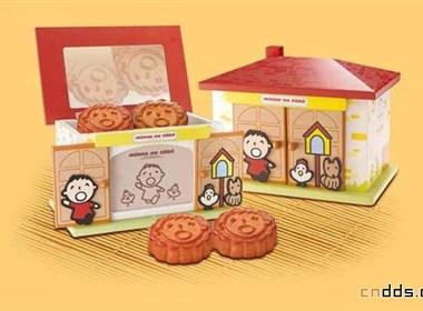 童趣兒童中秋月餅包裝設計