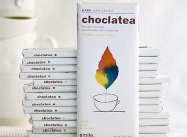 水彩图案巧克力外包装设计