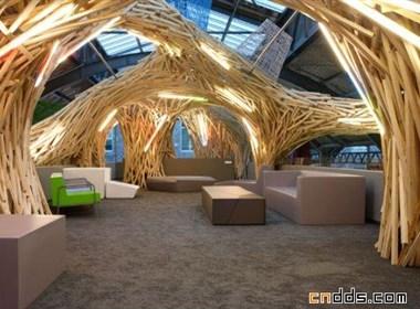 漂亮的木质客厅