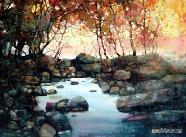 美丽的水彩风景画欣赏