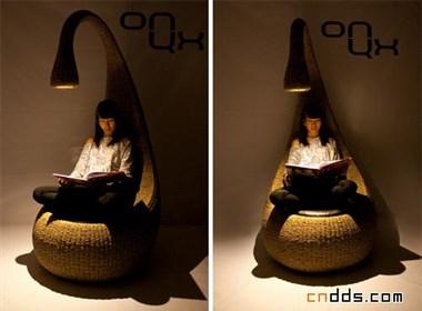 舒适特别的灯椅子
