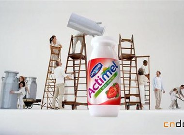 能Actimel益生菌酸奶飲料全新Logo和包裝設計