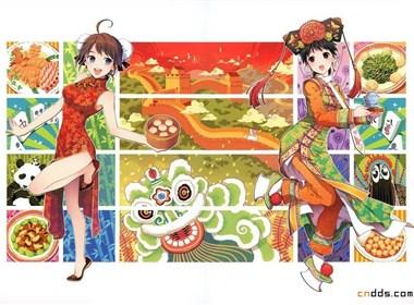 震撼视觉各国美女插画大PK