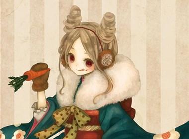 圣诞节前夕倾情相送日本唯美插画设计欣赏