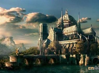 魔幻CG创意游戏城堡场景设计