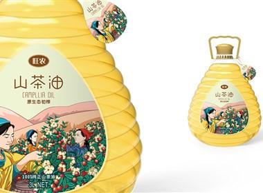 山茶油包装设计|瓶型设计|插画设计|圣智扬品牌包装创意体