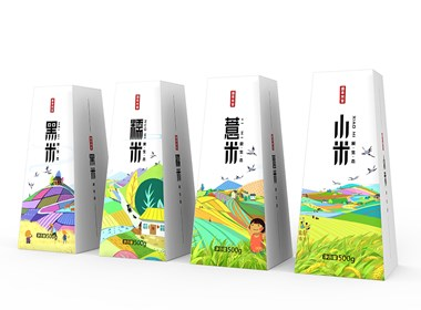 大米包装设计|农产品包装设计|插画包装设计公司