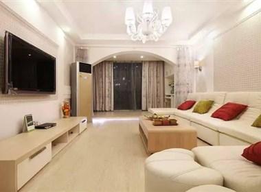 纯净的梦幻空间——120平三居室简约风格装修