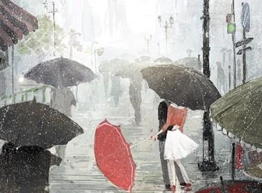 韩国插画师endmion《雨恋 》