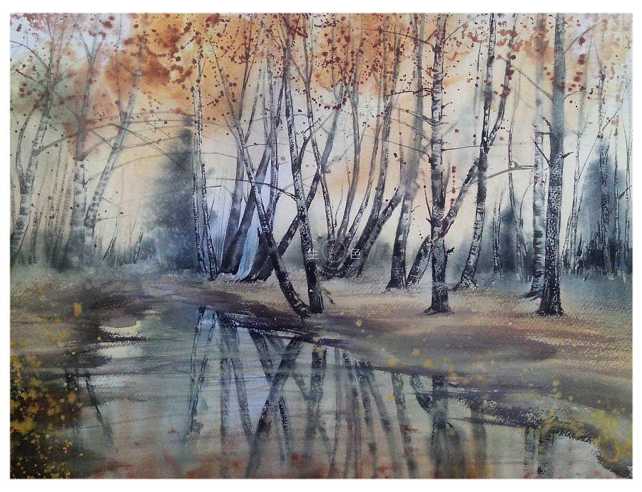 看不见的枯荣—水彩风景绘画