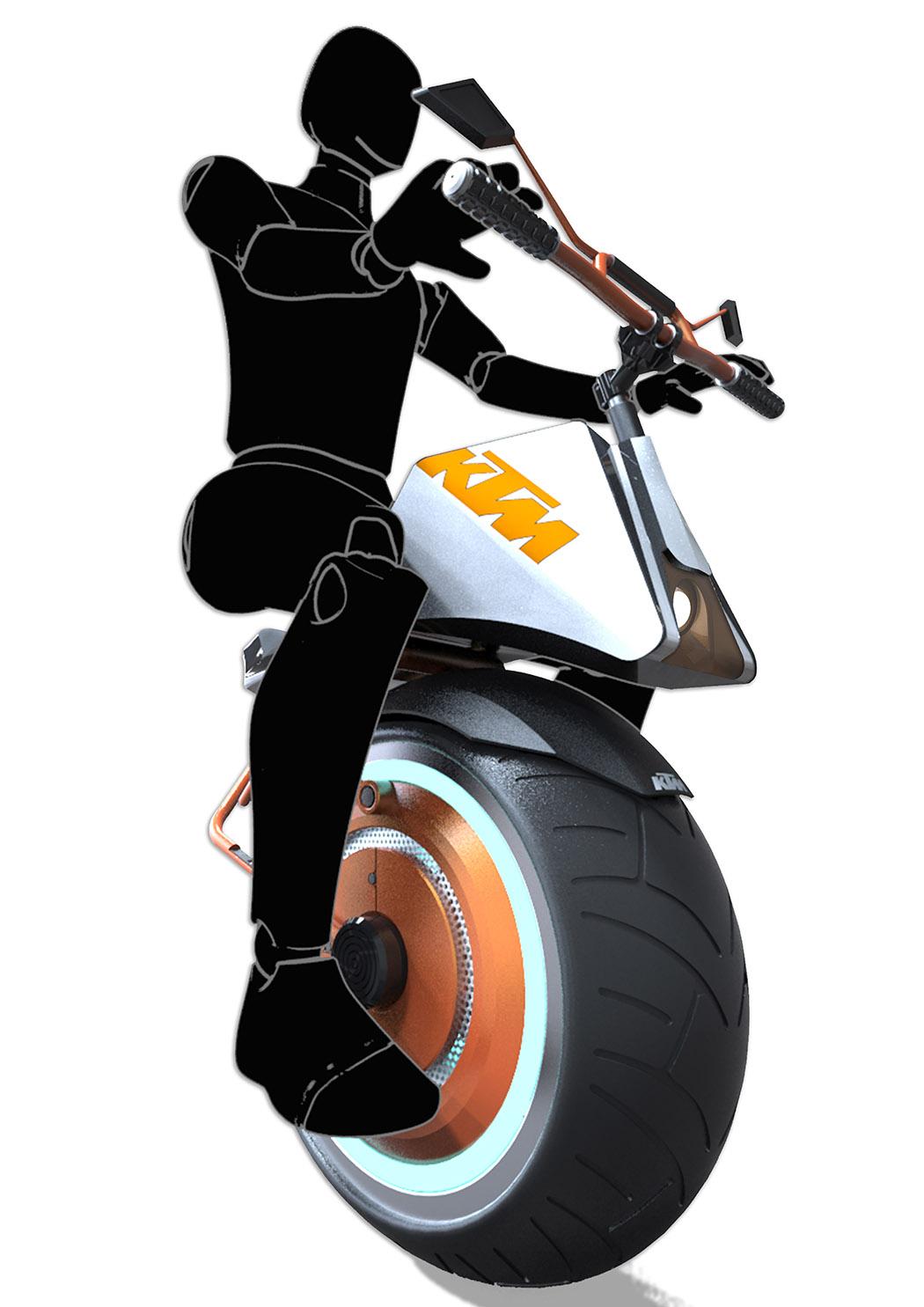 单轮摩托车,看起来就是个奇迹