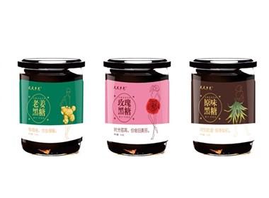 云南古法黑糖包装设计(5种口味)