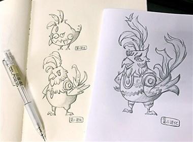 小鸟游戏进化卡通