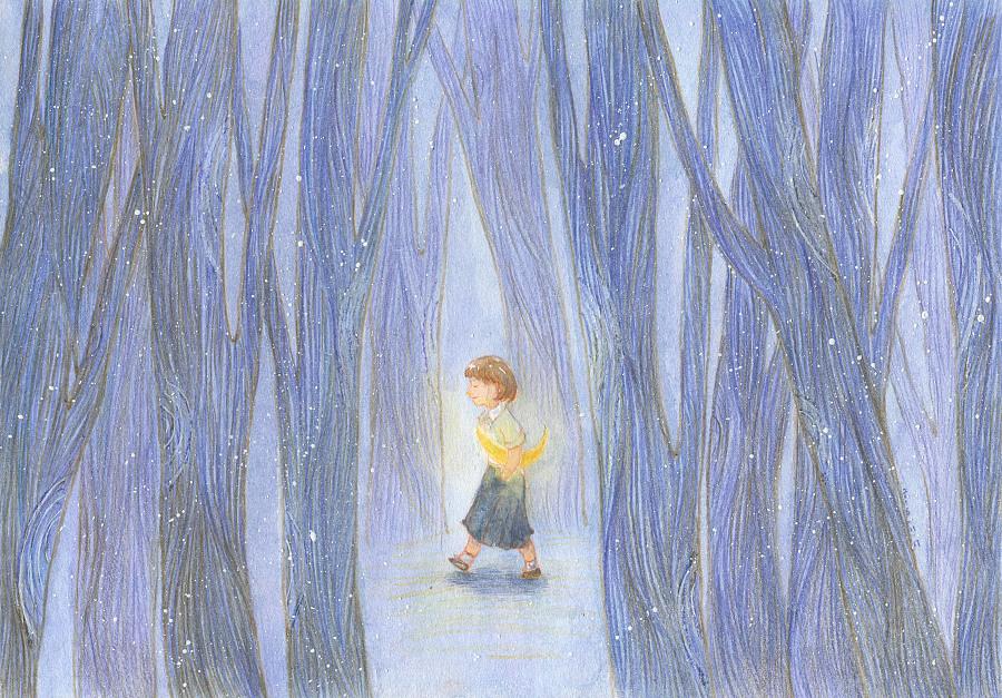 蓝色合集—儿童插画