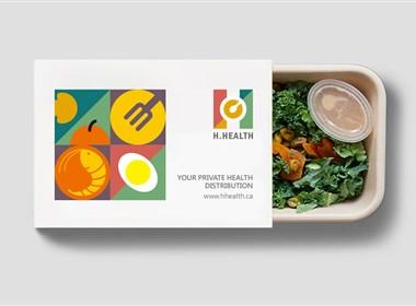 H.HEALTH健康快餐vi及包装设计