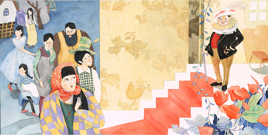 色彩斑斓的童话世界插画欣赏